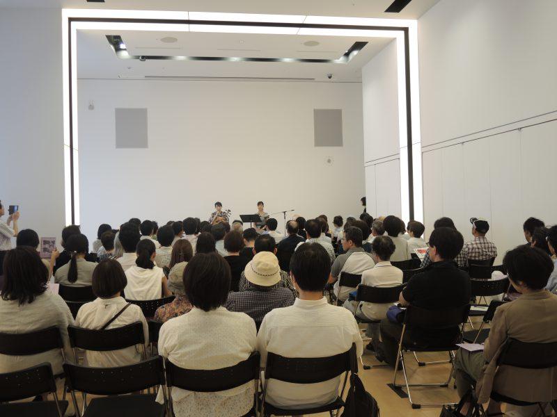 朗読音楽会「月琴で綴る龍馬の手紙」@静岡市美術館の会場の様子