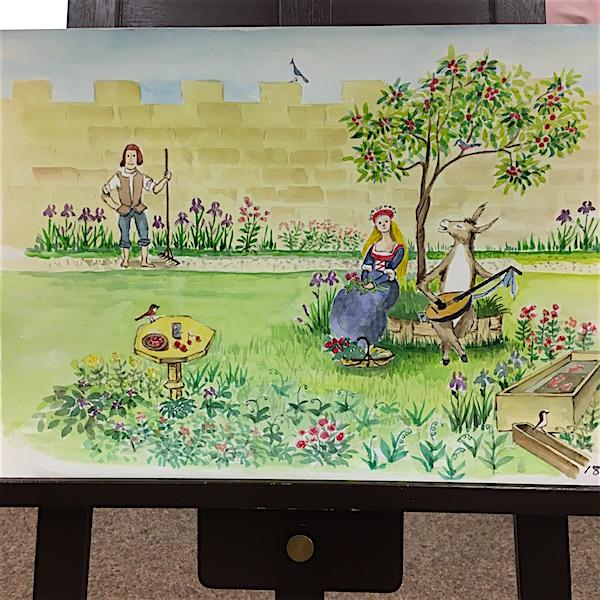 カリタス小学校に保存されている「ロバのおうじ」紙芝居
