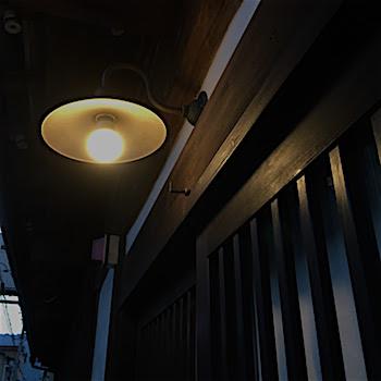 桝屋 玄関の外灯
