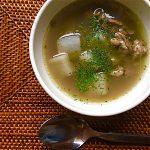 レンズ豆とラム肉のスープ仕立て