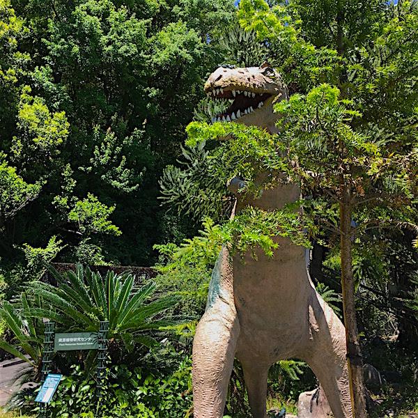 牧野植物園恐竜
