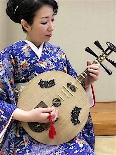 月琴奏者・永田斉子(高知城歴史博物館イベント音楽会)