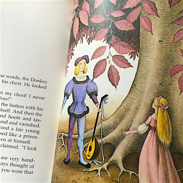 『ロバのおうじ』おうしが変身する挿絵の写真